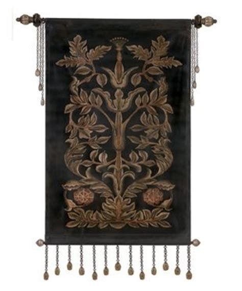 leather and tapestry evening bloom tapestry wall hanging accessories