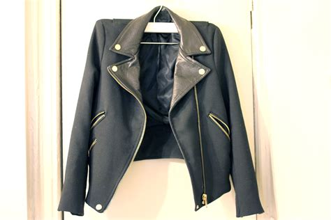 Outwear Zara Original zara moto jacket with leather lapels sz small 183 flux 183 store powered by storenvy