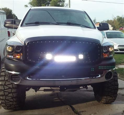 dodge ram grill with lights renegade black mesh grille with light bar for dodge ram