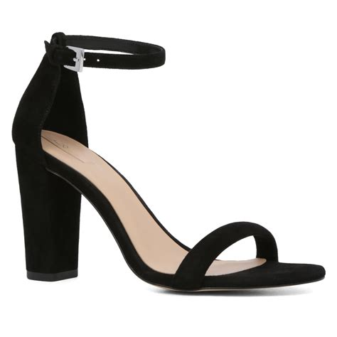 black ankle high heels aldo cicci ankle high heel sandals in black lyst