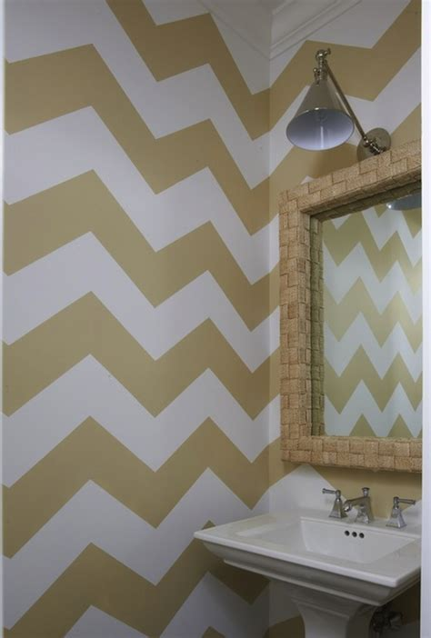 chevron bathroom ideas gold chevron walls contemporary bathroom
