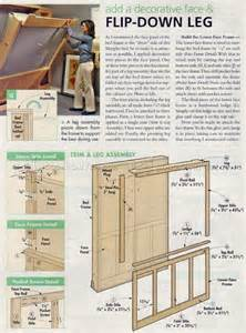 Murphy Bed Construction Details Murphy Bed Plans Woodarchivist