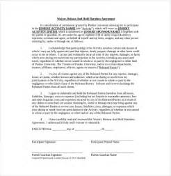 simple hold harmless agreement template 9 hold harmless agreement templates free sle exle