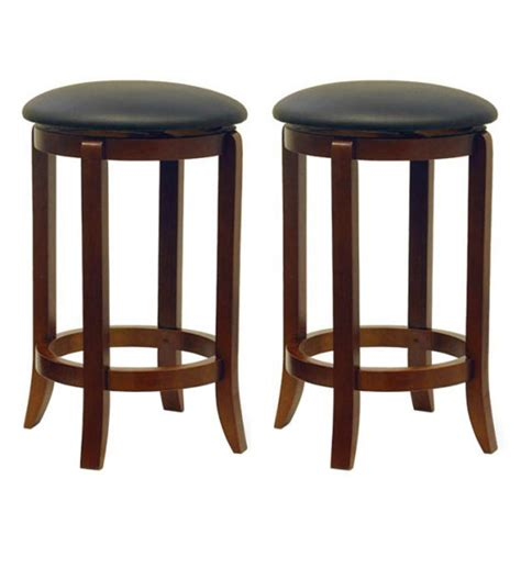 24 inch high bar stools 24 inch swivel bar stools walnut finish set of 2 in