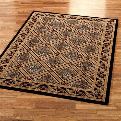 floor rug formal leopard area rugs