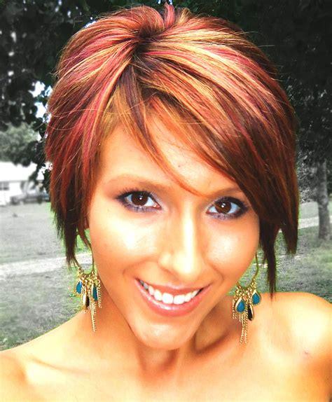how to highlight pixie hair short bob long pixie red highlights short hair