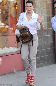 She really is a good wife julianna margulies enjoys family time on a