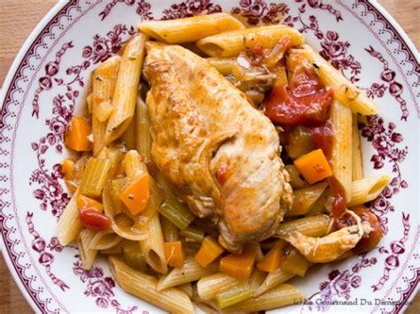 cuisiner le c駘eri rago 251 t de poulet et vin blanc le gourmand du dimanche