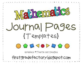 math journal template math journal pages templates by grade factory tpt