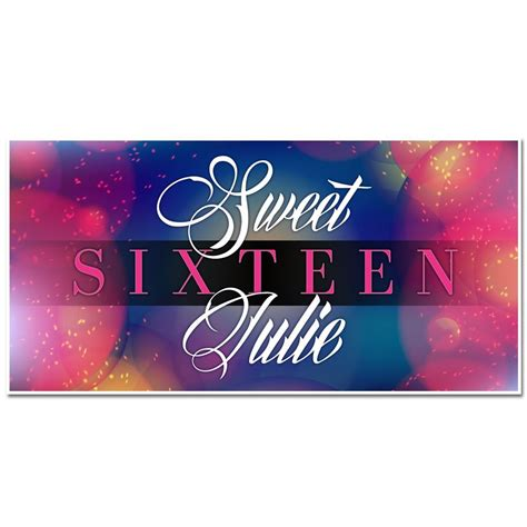 sweet sixteen banners decorations sweet sixteen blue and pink sweet 16 sixteen birthday banner custom