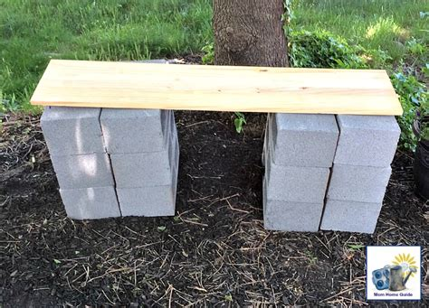 concrete block bench diy wood and cinder block bench