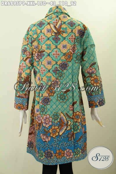desain baju batik buat orang gemuk desain baju batik wanita kerja ukuran 3l dress batik