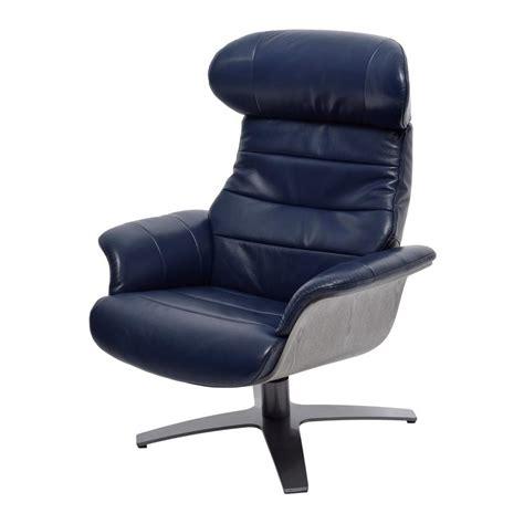 enzo leather recliner chair enzo dark blue leather swivel chair el dorado furniture