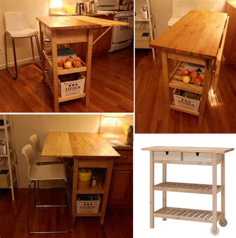 Kitchen Island With Drop Leaf 10 Best Ikea Hacks For A Small Apartment Kitchen Jewelpie