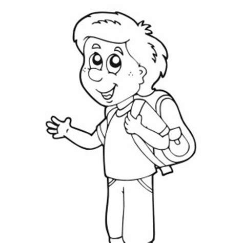 Boy Waving Coloring Page | poke 195 169 coloriage