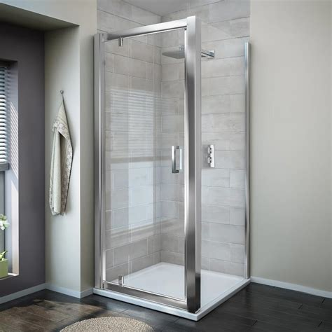 Square Shower Enclosure Turin 8mm Square Pivot Door Shower Enclosure From