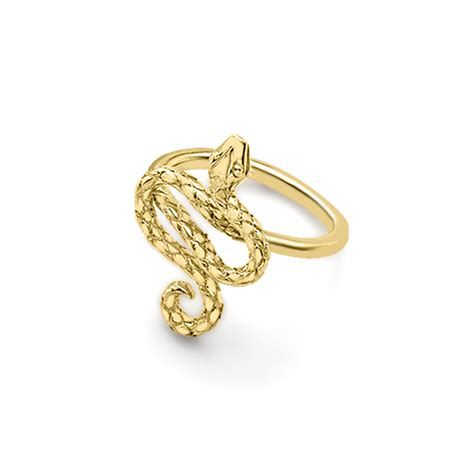stunning yellow gold kew snake ring road jewellery