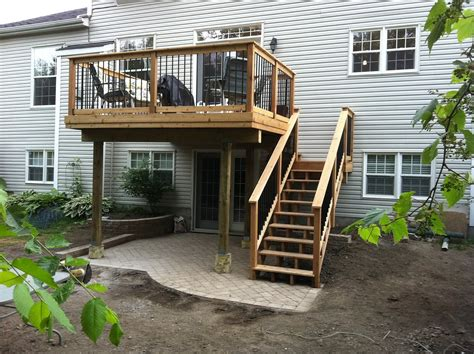 second floor deck plans awesome second story deck ideas pictures home building