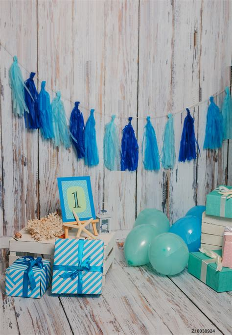 life magic box wood wall floor photo backgrounds blue birthday backdrops boy  birthday