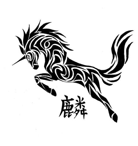 unicorn tribal tattoo 57 best unicorn tattoos images on unicorn