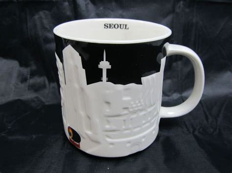 Coffe Mug Korea seoul korea starbucks relief series coffee tea mug 16 oz
