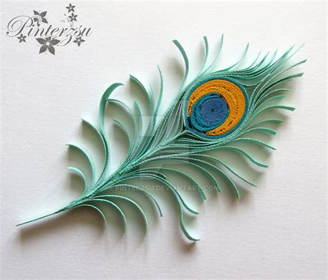 paper quilling peacock feather tutorial quilled peacock feather by pinterzsu on deviantart