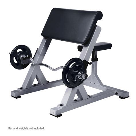 bench curl york commercial preacher curl bench
