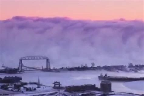 lake superior sea smoke apocalyptic wall of sea smoke captured in incredible