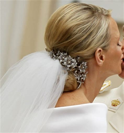 princess charlene wedding hair royal wedding jewelry princess charlene of monaco