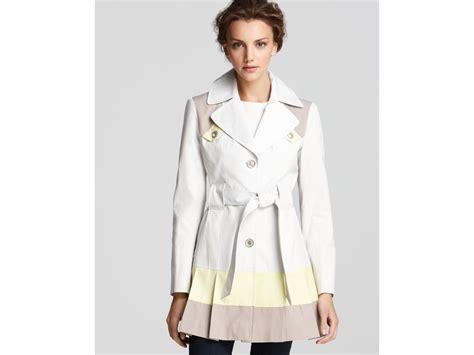 color block trench coat lyst via spiga color block trench coat in yellow