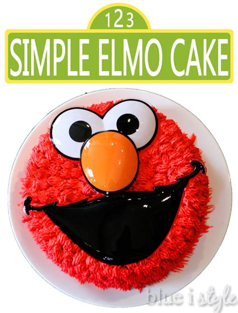 Home Decorating Tips For Beginners entertaining with style a simple elmo cake amp basic cake