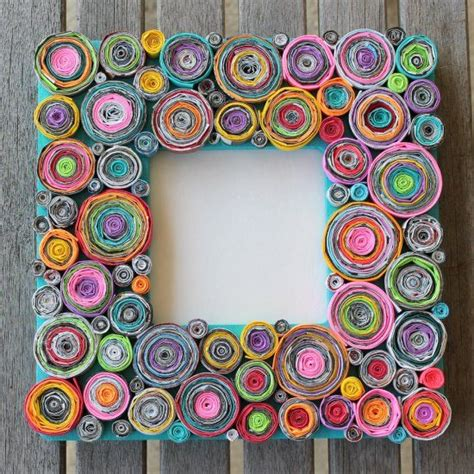 Things To Make With Coloured Paper - best 25 recycled paper crafts ideas on