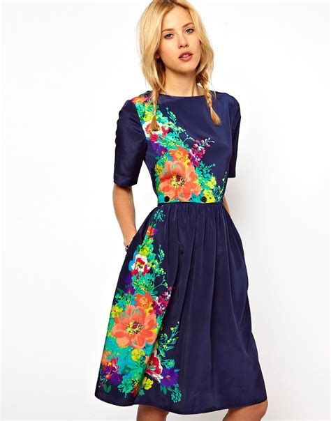 Dress Midi Flower floral print dress flower print in fashion