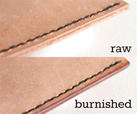 Lederkanten Polieren by How To Burnish Leather Edges 4 Steps With Pictures