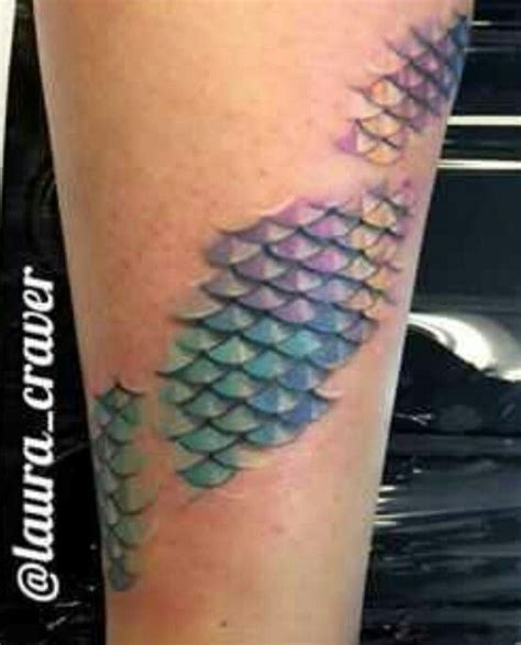 fish scales tattoo mermaid scales from ink ideas
