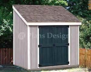 4 x 8 storage utility lean to shed building plans