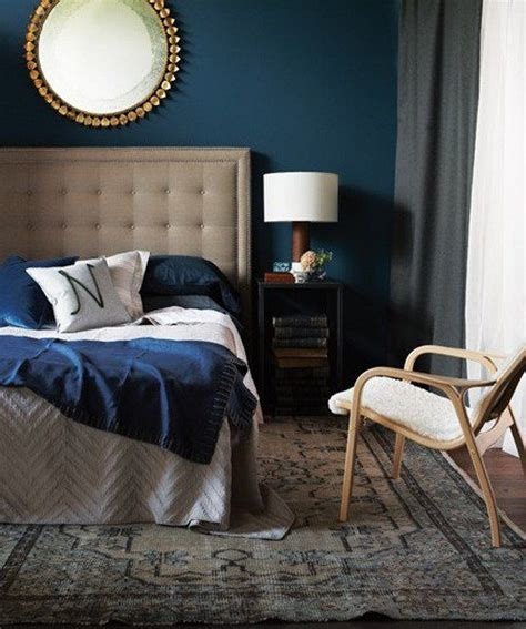 dark teal bedroom navy and gold design inspiration homedesignboard