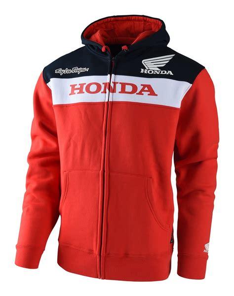 Zipper Jaket Honda troy honda wing zip up fleece cycle gear