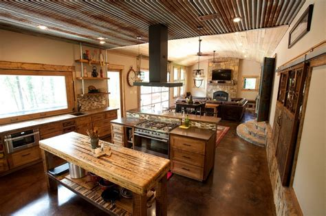 barn kitchen ideas the kitchen design metal garage living quarters i like the tin ceiling