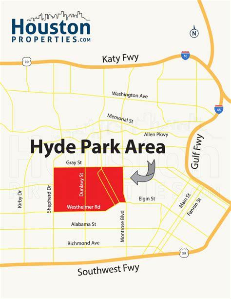 houston map for sale hyde park houston homes real estate neighborhood guide