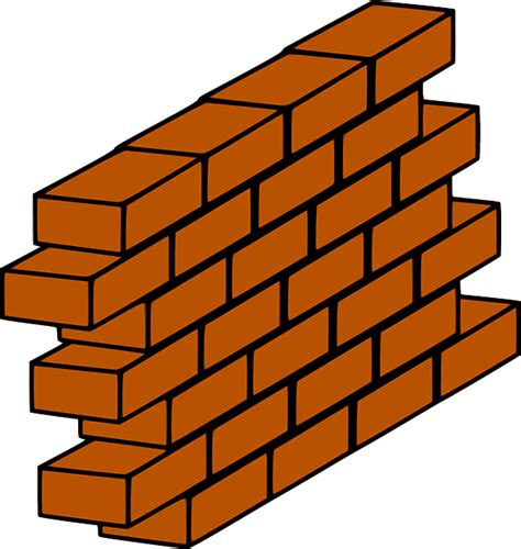 vector graphic brick red wall barrier