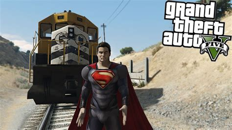 mod gta 5 superman gta 5 mods superman vs train youtube