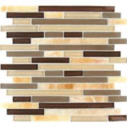 home depot kitchen backsplash tiles ms international honey caramel interlocking 12 in x 12 in x 8 mm glass mesh mounted
