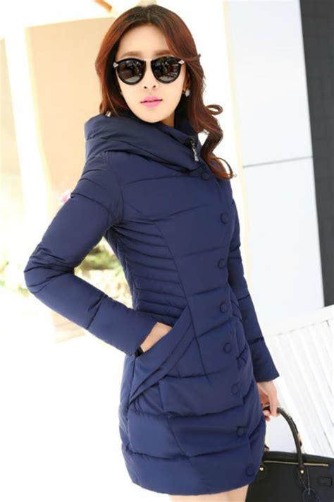Cats Hodie Jaket Wanita jaket musim dingin korea navy padded jacket