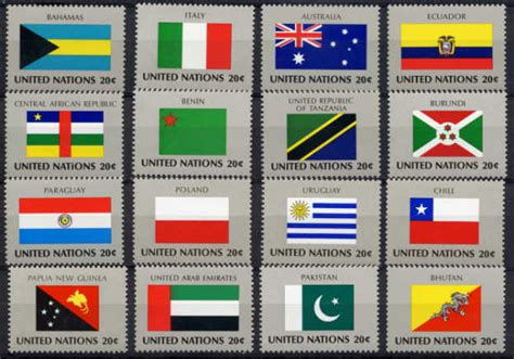 1000 images about flags of the world on united nations 1984 flags set of 16 stamps 8 value ebay