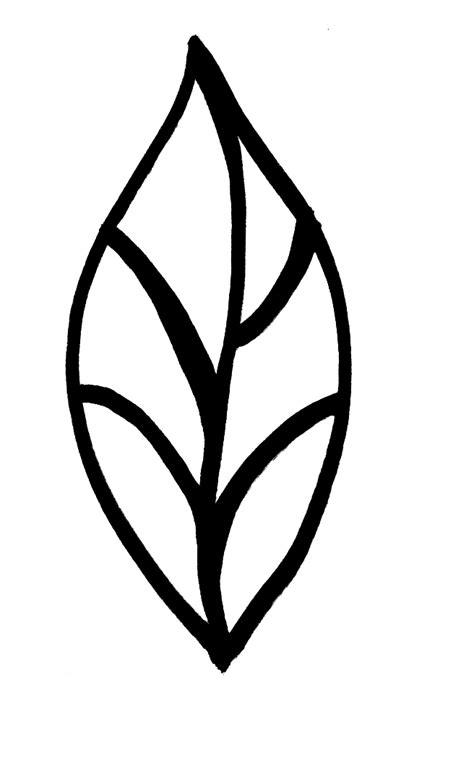 leaf pattern stencil stencil leaves clipart best