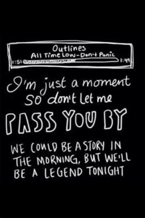 Outlines All Time Low by Outlines All Time Low Song Lyrics Random Quotes