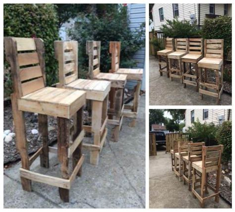 Bar Stools Made From Pallets by 1000 Ideas About Pallet Bar Stools On Pallet