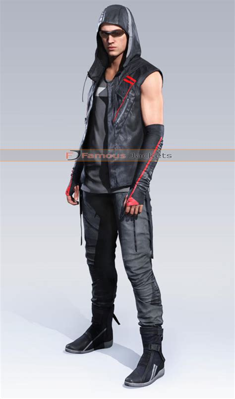 mirror s edge catalyst icarus hoodie black vest 163 105 for 2 looks in 1 this open front catalyst