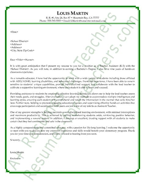 application letter for preschool assistant recommendation letter sle for aide http www